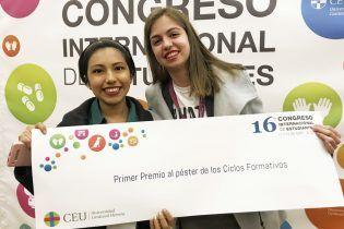 Alumnas ganadoras ISEP CEU CV en el CIE